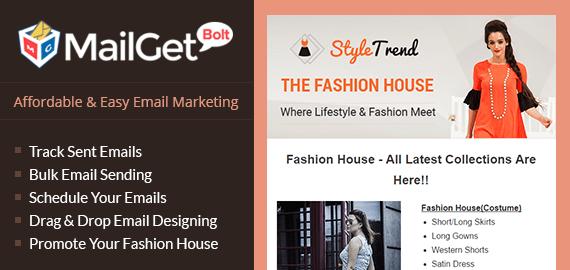 email marketing for fashion house Slider