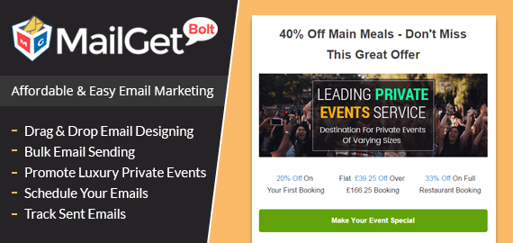 email marketing for private events Slider-New