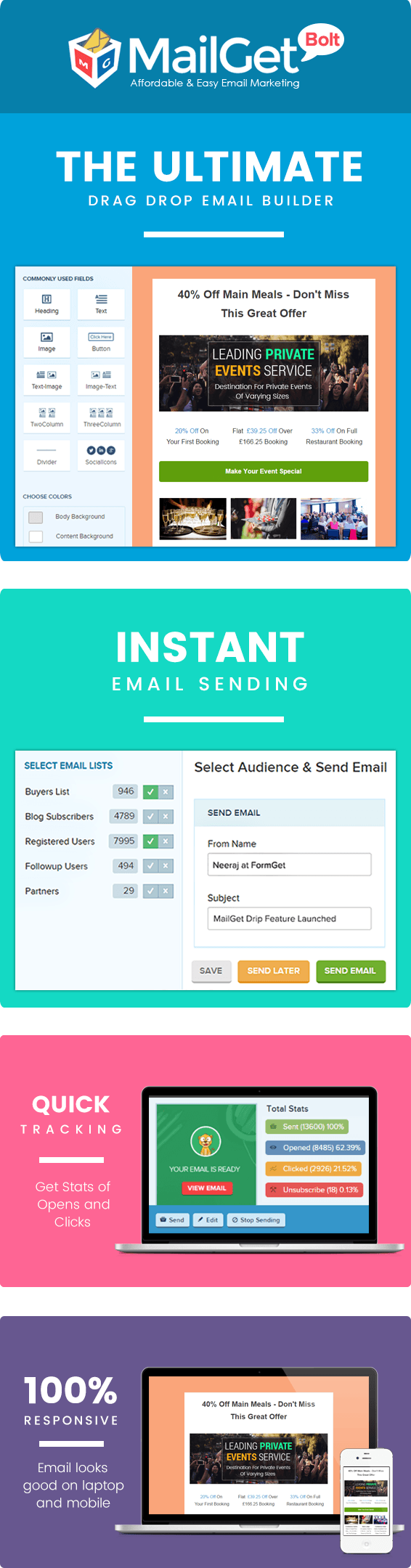 email marketing for private events