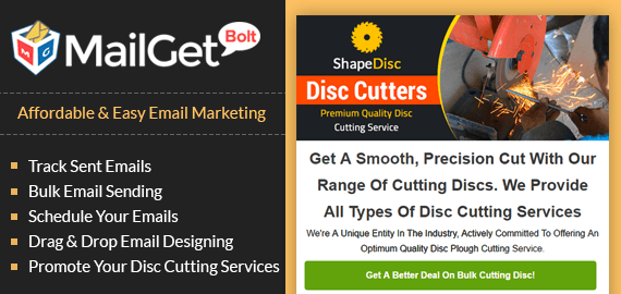 Email Marketing Service For Disc Cutting & Shaping Service