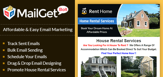 House Rental Service Email Marketing Software
