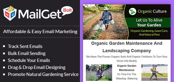 email marketing for natural gardening banner 1