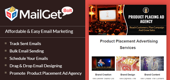 Product Placement Advertising Email Marketing Service