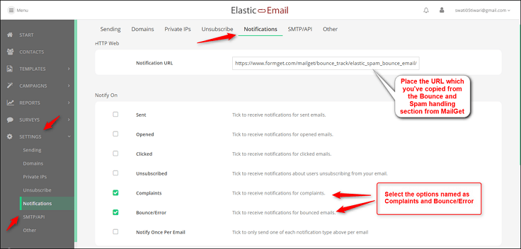 Email SMTP With MailGet