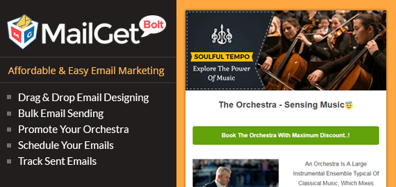 Email Marketing Service For Orchestra Slider