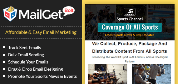 Sports News & Events Email Marketing Service