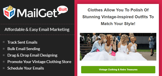 vintage clothing for women banner