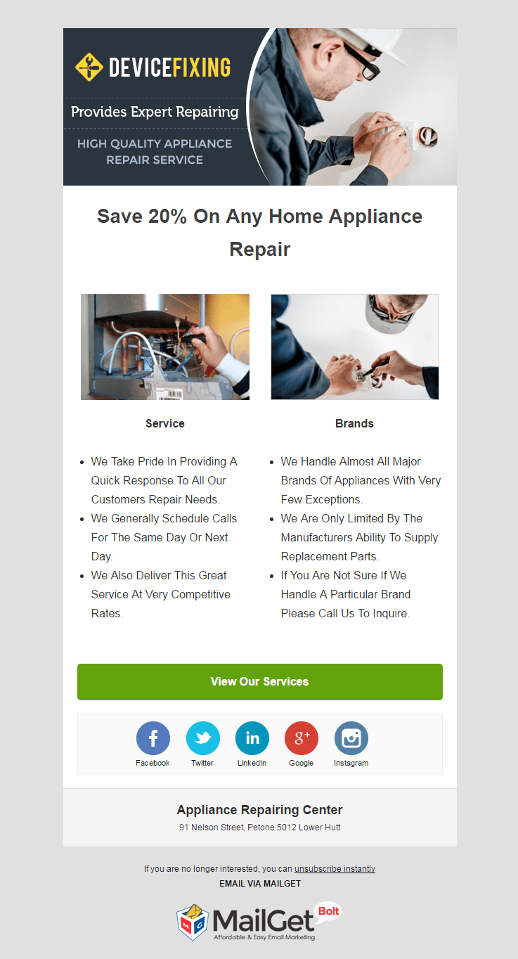 Appliance Repairing Centre