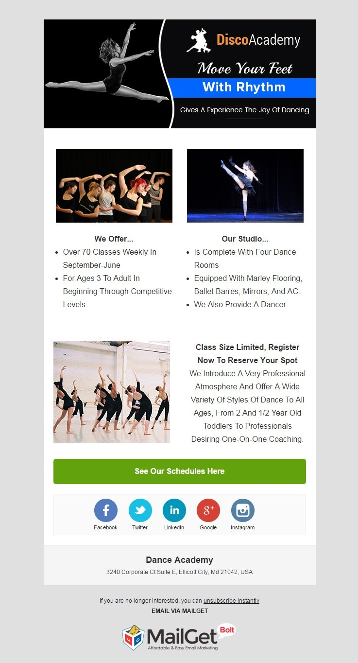 Email Marketing For Dance Academies