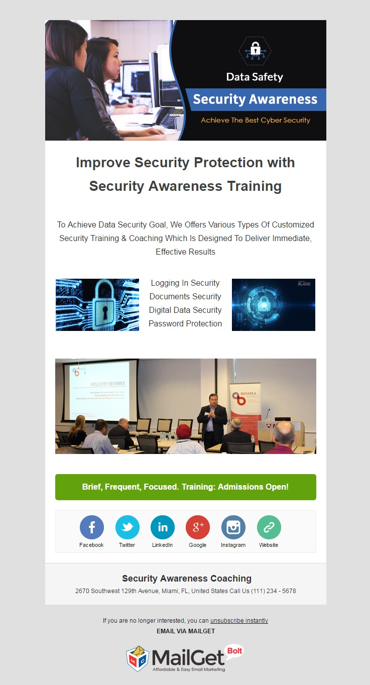 Email Marketing For Security Awareness Coaching