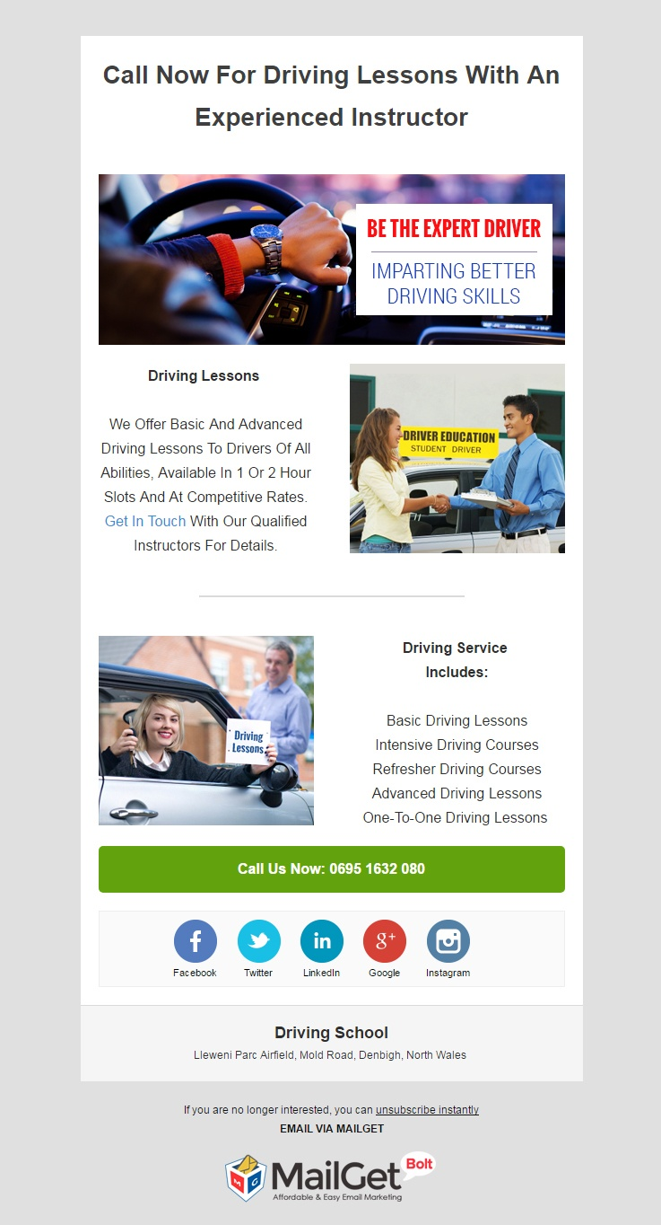 Email Marketing Service For Driving Schools