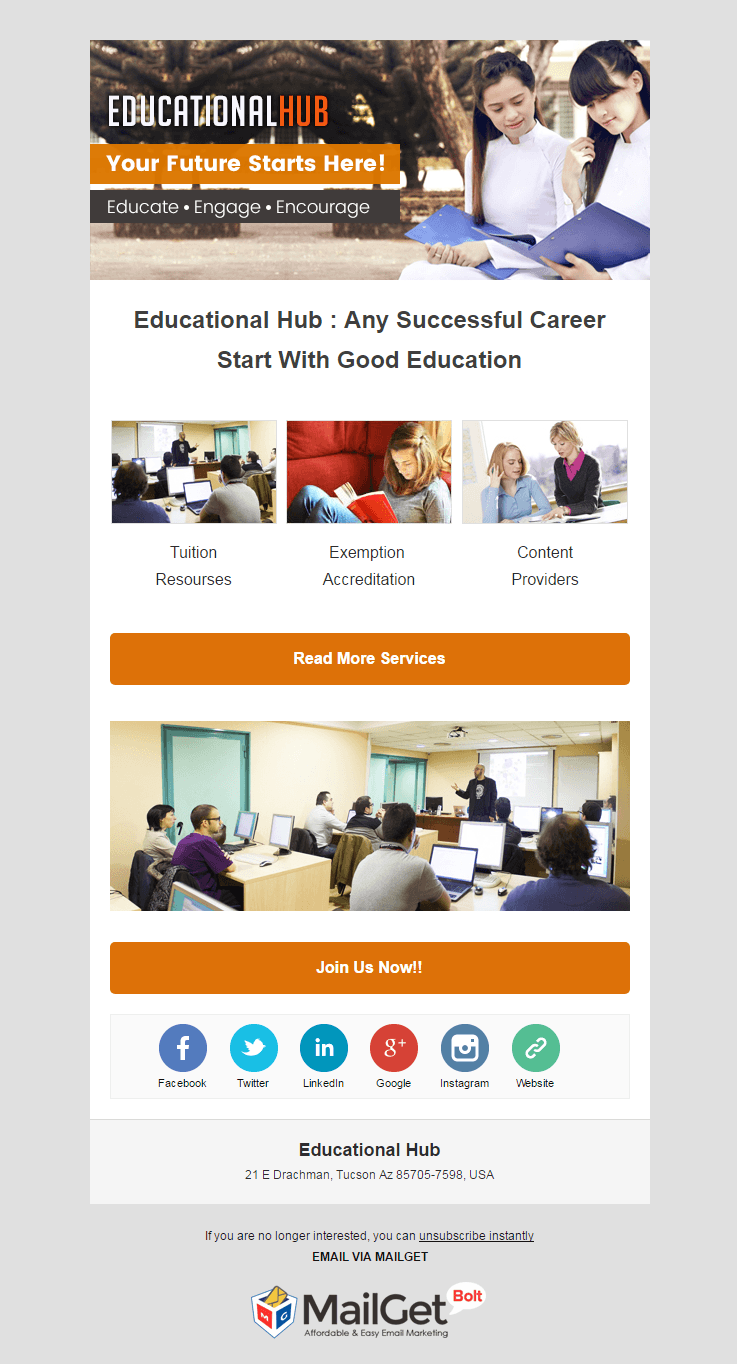 Email Marketing Service For Educational Hubs