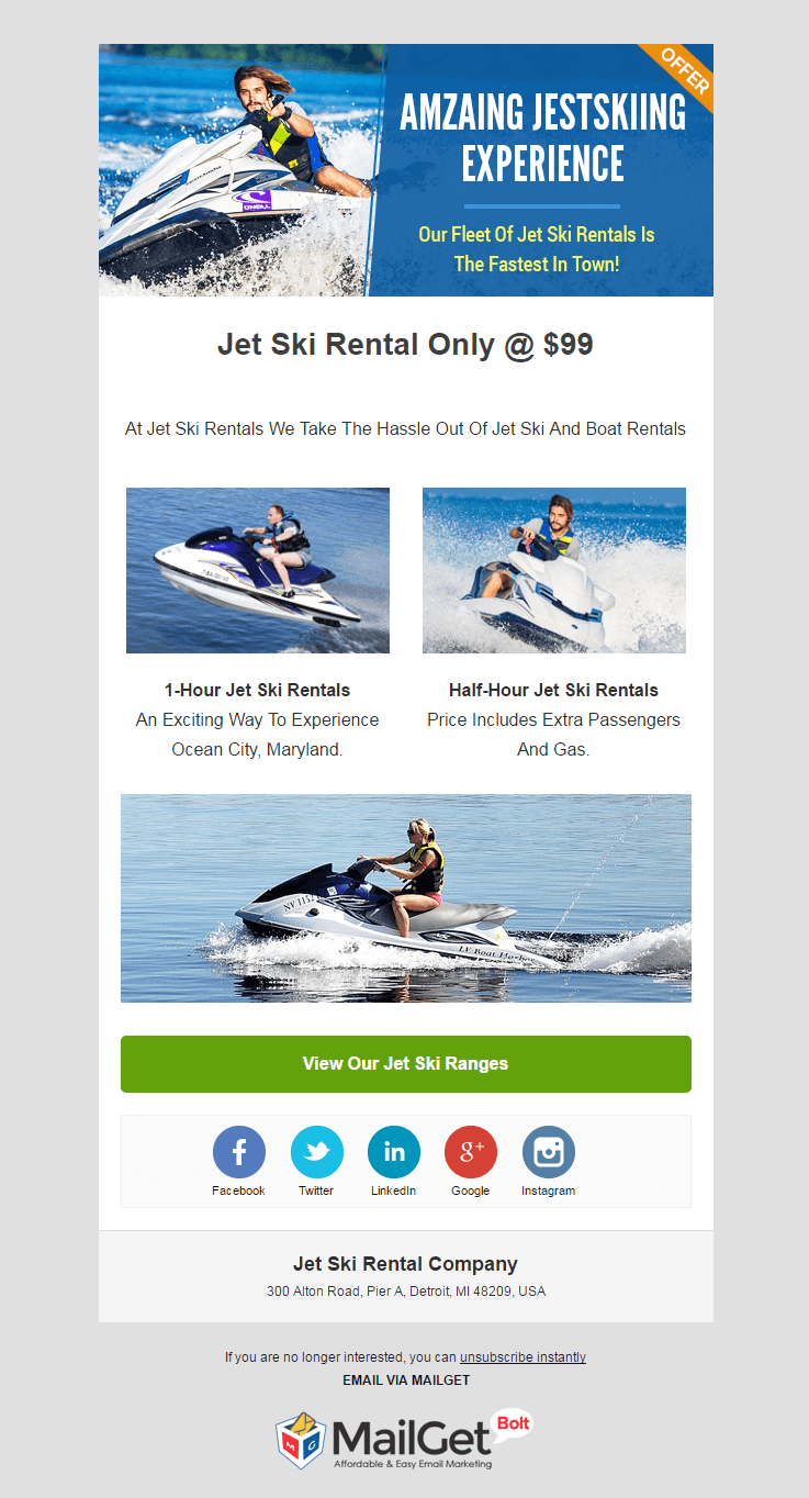 Email Marketing Service For Jet Ski Rental Agencies