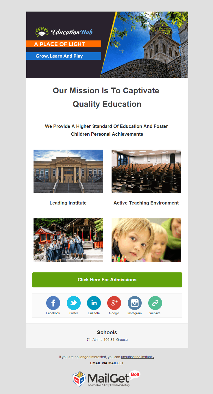 Email Marketing Service For Schools