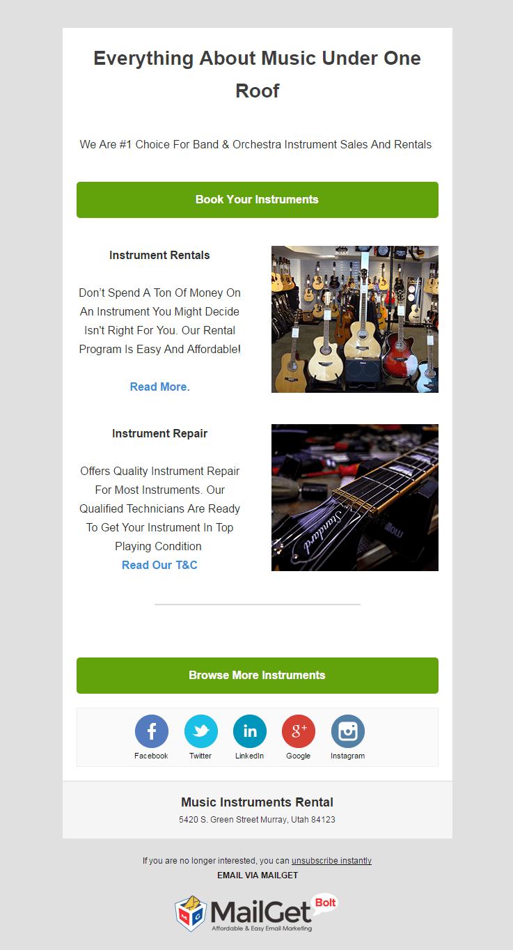 Music Instruments Rental