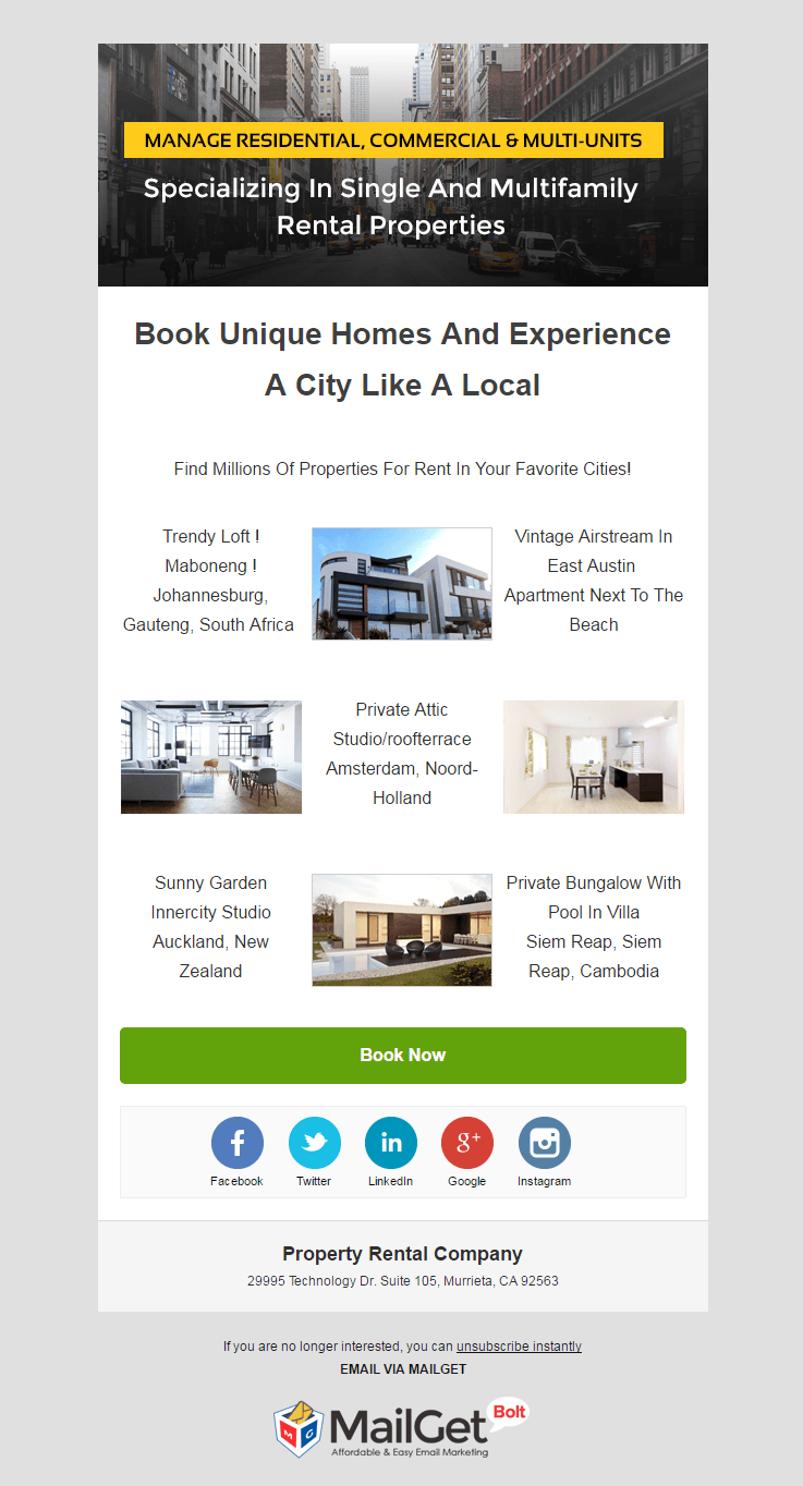 Rental Email Templates