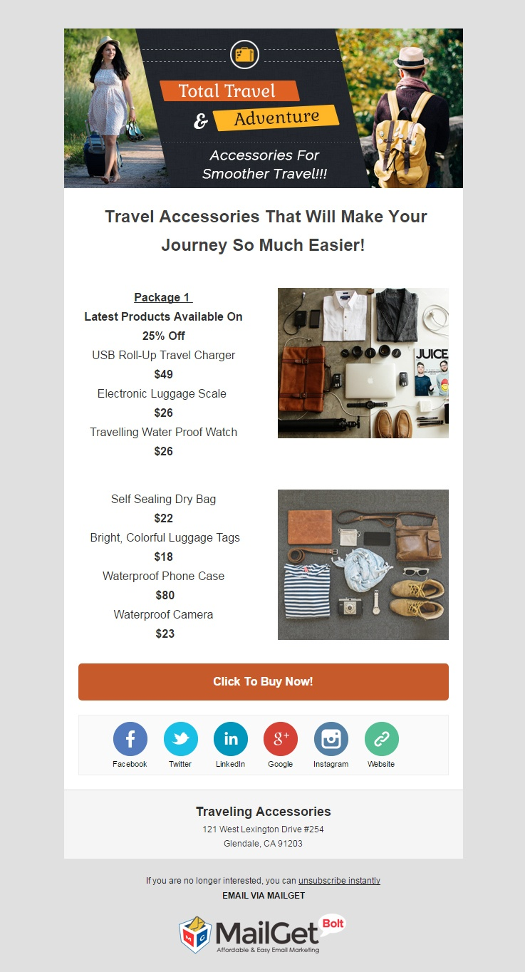 Travel Email Templates