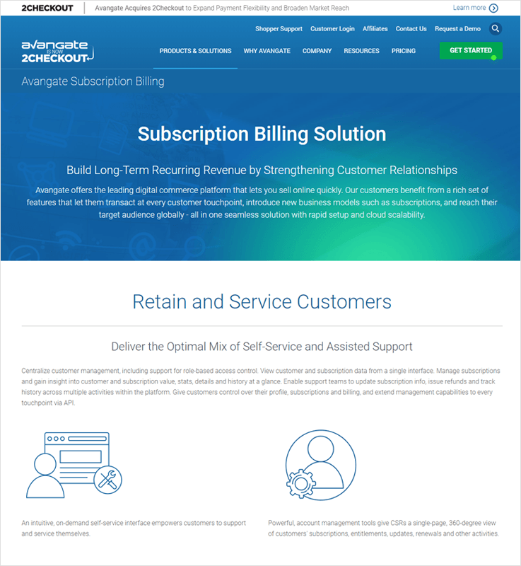 Avangate Checkout Customer Billing Management Solutions