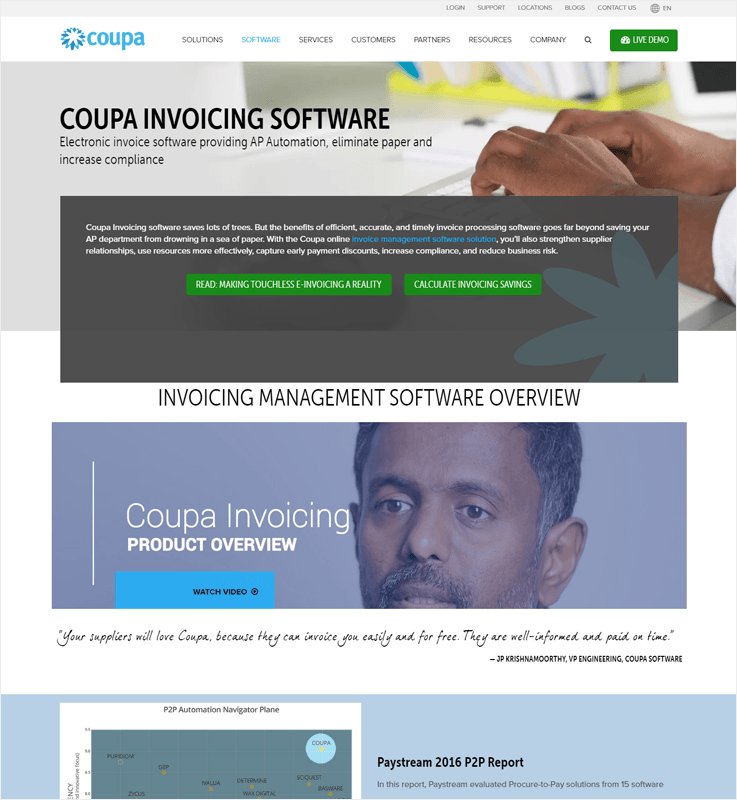 Coupa Automated Invoice Processing Software