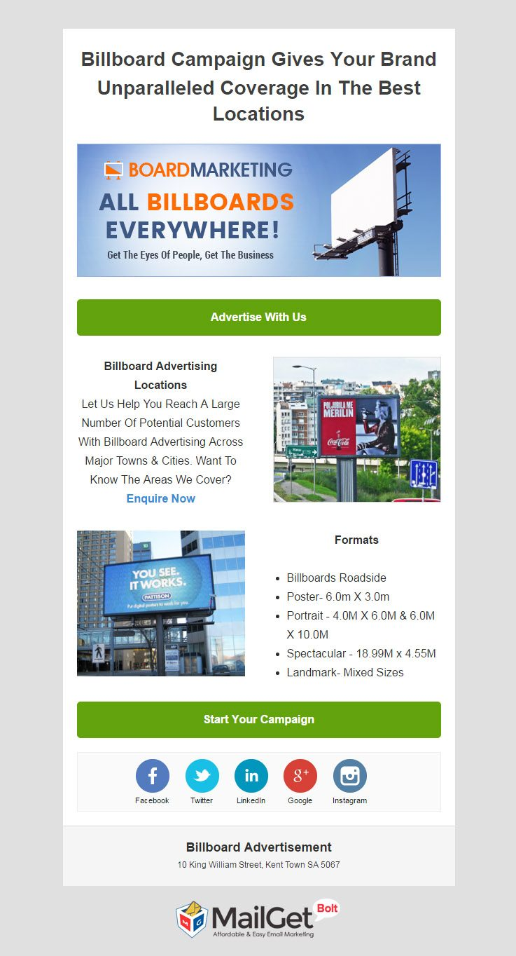 Email Marketing For Billboard Advertisers