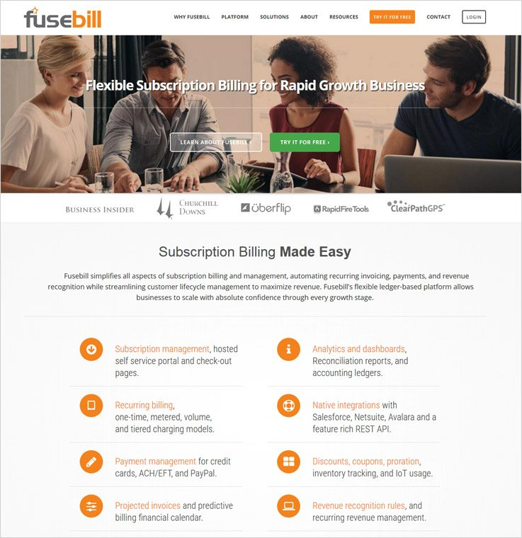 Fusebill - Online Subscription Billing Services