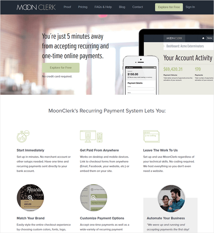 Moon Clerk Revenue Management