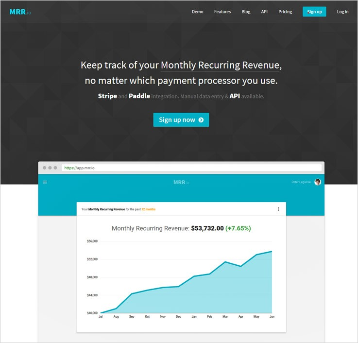 Mrr cheapest Stripe Payment Analytics Software