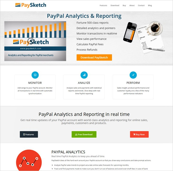 Cheap PayPal Payment Analytics Software by PaySketch
