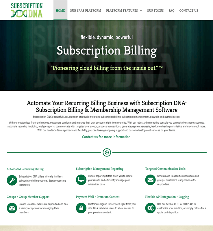 Subscription DNA Revenue Management