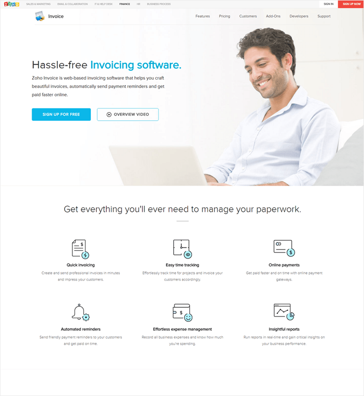 Zoho Invoice Automated Invoice Processing Software