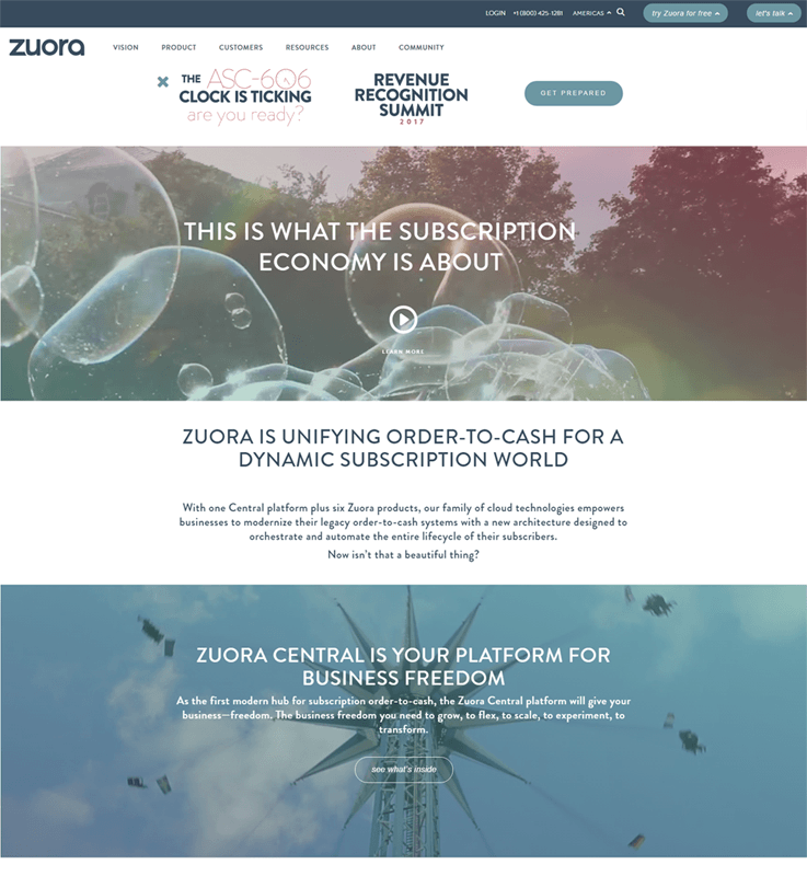 Zuora Revenue Management