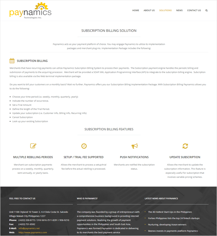Paynamics Revenue Management