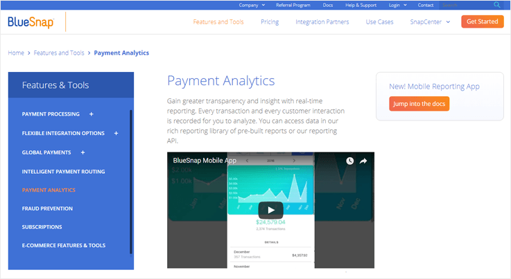 BlueSnap Payment Gateway Tracking Software