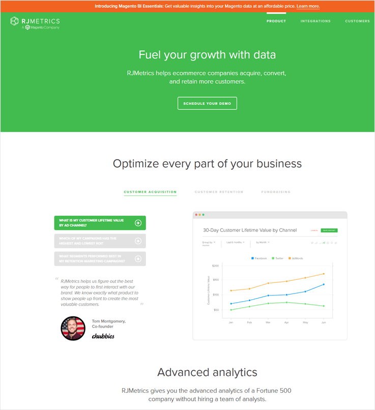 RJMetrics - Cheapest Payment Analytics Software For Small Businesses