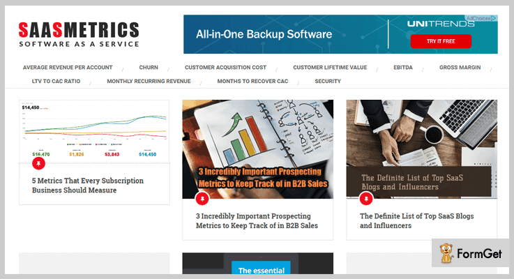 SaaS Metrics Best Subscription Business Analytics Tool