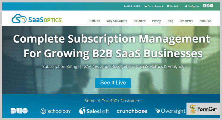 SaaSOptics Best Subscription Business Analytics Tool