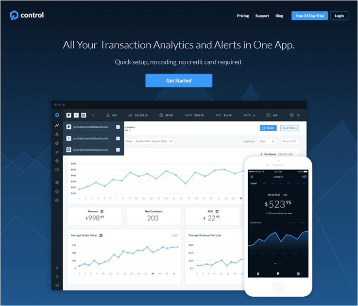 GetControl Cheapest Payment Analytics Software For Small Businesses