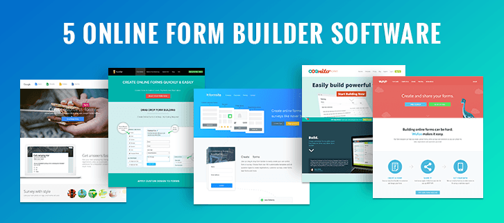 5 Online Form Builder Software: Create Online Forms With No Coding