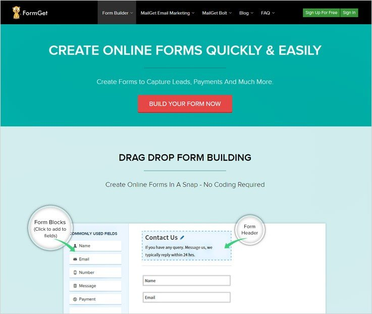 FormGet Form Automation Software
