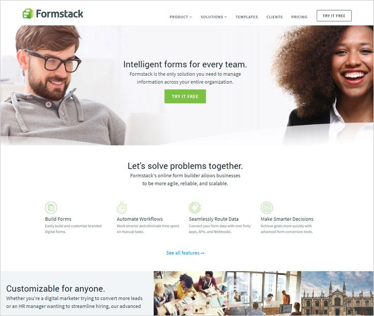 Formstack Form Automation Software