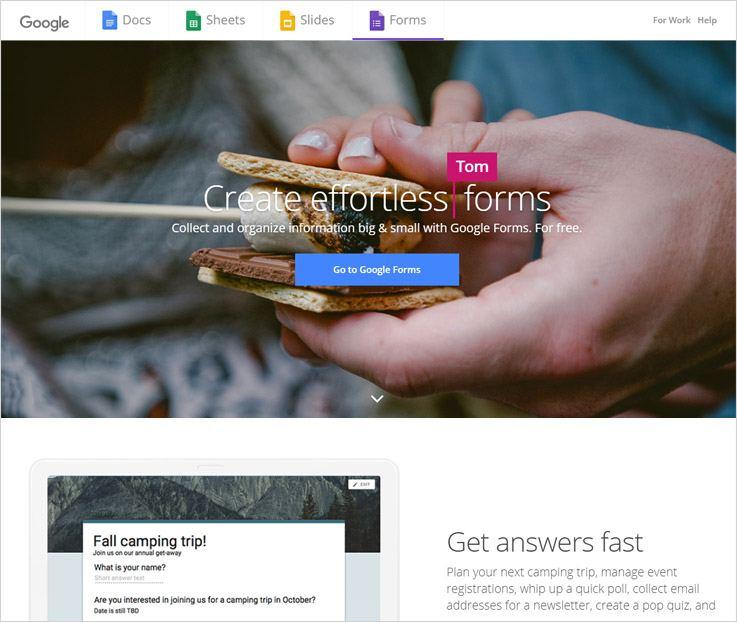 Google Online Form Builder Software