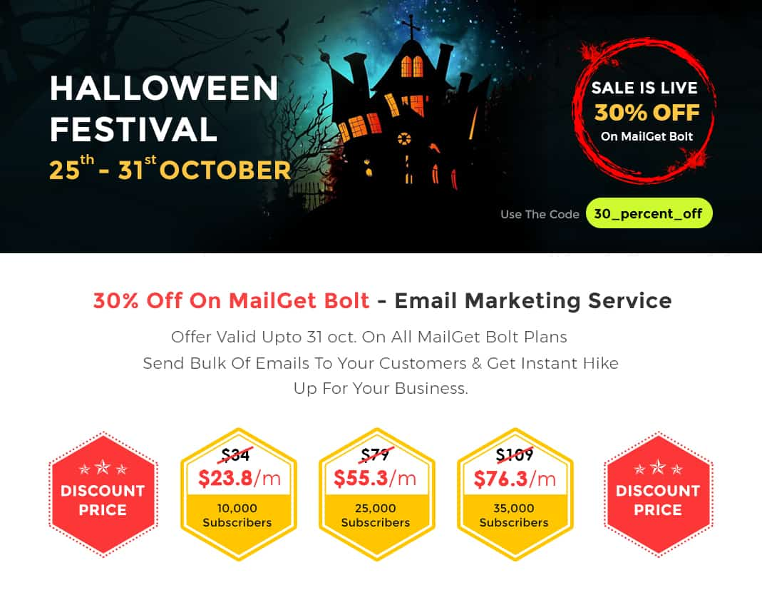 Halloween Email Template Discount Offer