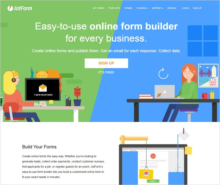 JotForm Tools To Create Forms