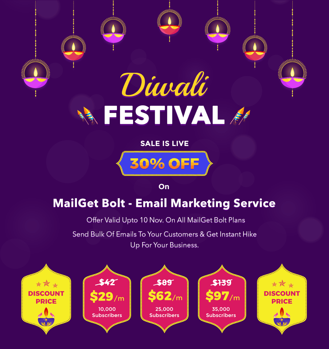 Mailget bolt diwali offer image