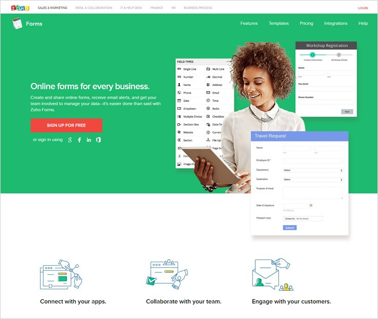 Zoho-Best-Software-To-Create-Forms