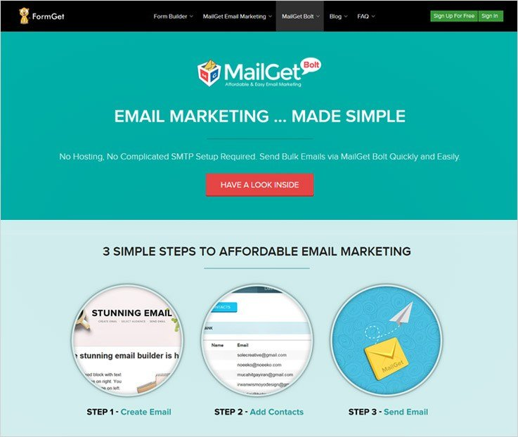 Mailget Bolt - Best SMTP Servers For Mass Mailing