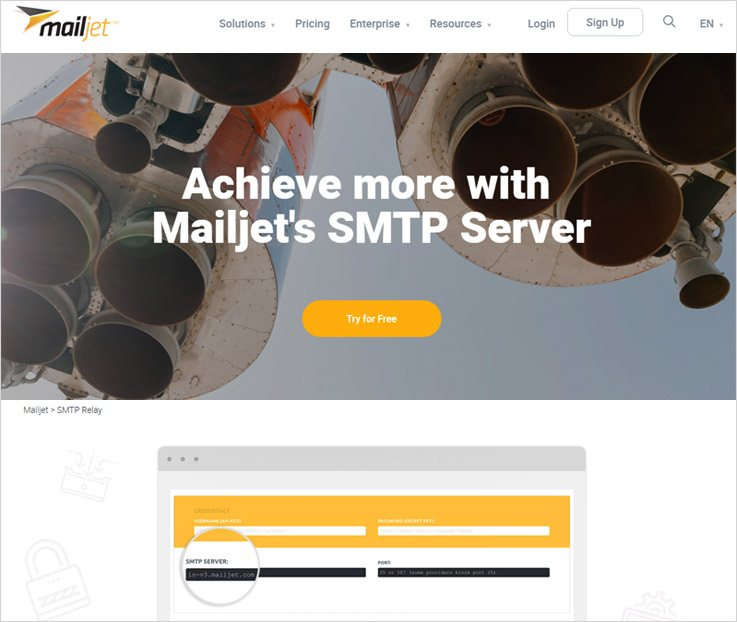 Mailjet - Best SMTP Servers For Mass Mailing