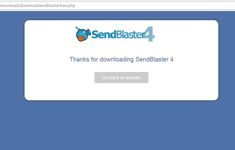 SendBlaster 4 Thanks for download