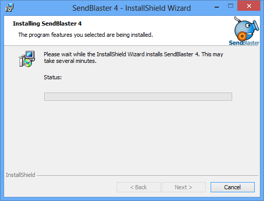 Installation status page