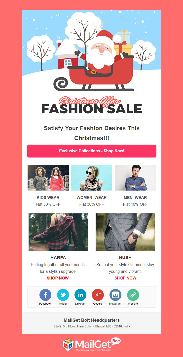 5 free christmas email templates responsive customizable formget fashion free christmas email templates maxwellsz